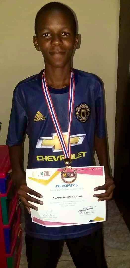 Congratulations Al-Amin Adamu Gamawa! He is the 13 year old Nigerian Bronze medal winner at the International Mathematics quiz competition held in Thailand. Over 70 countries participated. Nigeria came 15th. He hails from my hometown of Gamawa, Bauchi State. May God bless him! 👏🏼