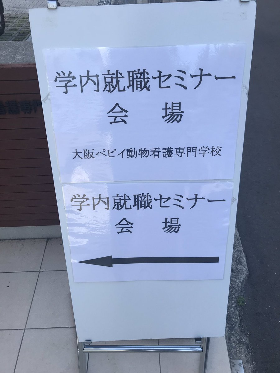 本日ペピイは学内就職セミナーです??14時からの開催となります❗️来られる病院様は10分前までにはお越しください?✨ペピイ生、職員一同お待ちしております!気をつけてお越しください??#大阪ペピイ動物看護専門学校#ペピイ#学内就職セミナー