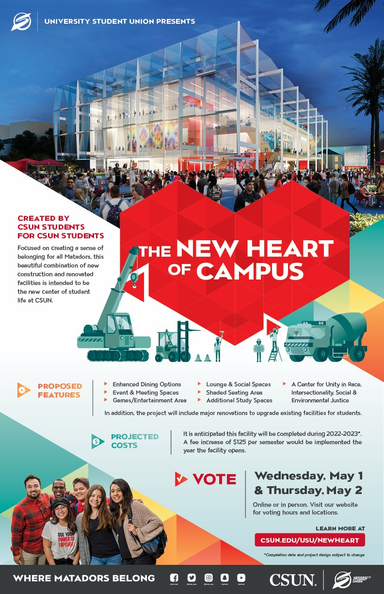 Csun 2022 Calendar.Usu Csun On Twitter The University Student Union Presents The New Heart Of Campus Created By Students For Students Check Out The Above For More Information And Visit Our Website