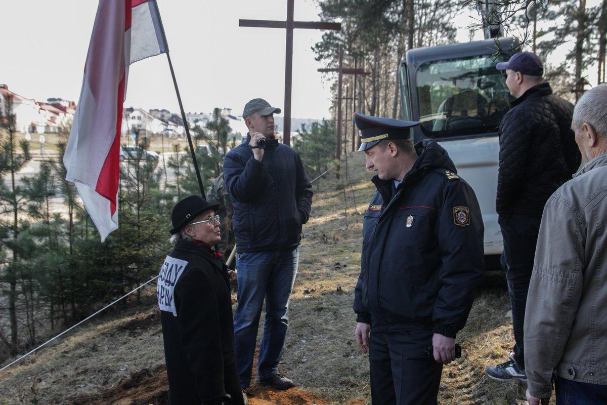 В Куропатах снесли мемориал жертвам сталинских репрессий