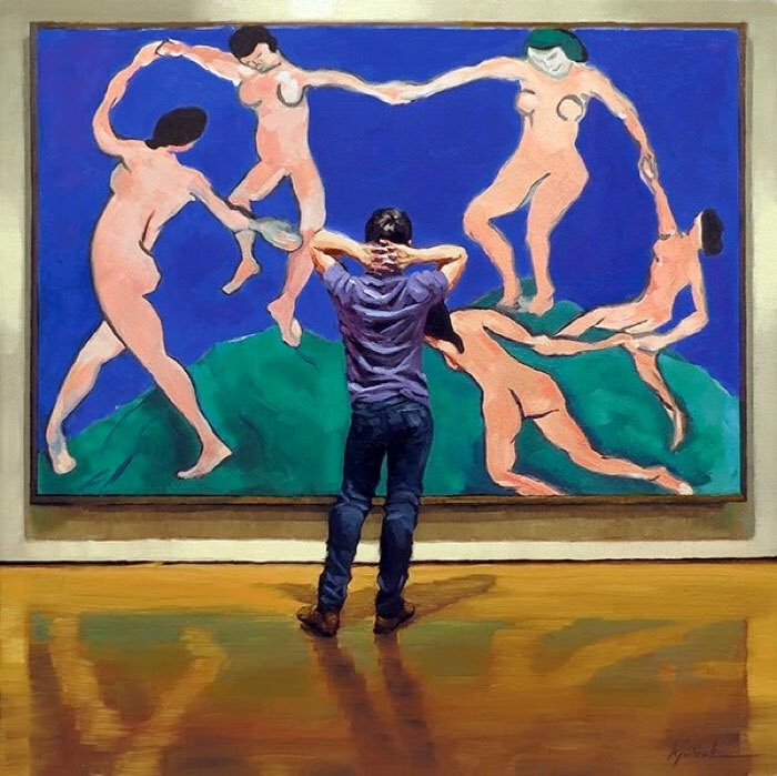 It reminds me a lot of Karin Jurick's paintings. #MetArt