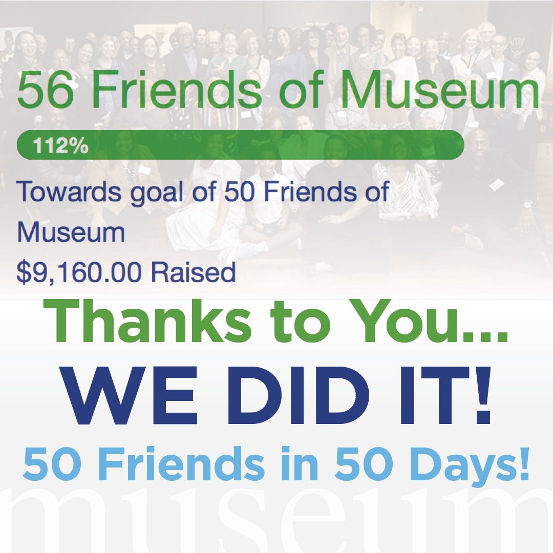 @spelmanmuseum appreciates ALL of the gifts given during our 50 Friends in 50 Days initiative. Whether one time or recurring - your support is invaluable!#SpelMuse #InvestSpelMuse #Philanthropy #50in50 #Art #FineArt #SupportMuseums