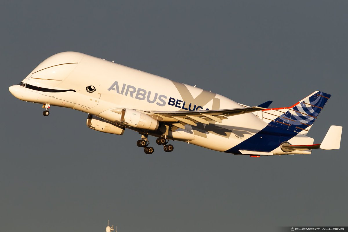 On first rays of sun this morning ! We call that the golden hour !! #Airbus #BelugaXl departing to #Vatry as #AIB38XL for another training session ! #avgeeks #avgeek #Toulouse