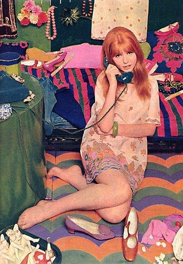 Jane Asher, in her psychedelic bedroom circa 1967  (Happy Birthday Jane)