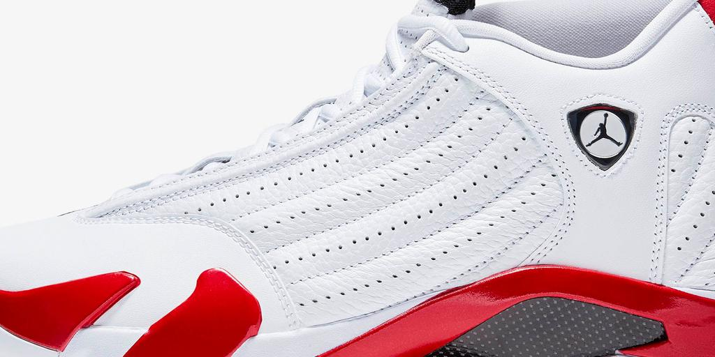 f40b2a041340 The Jumpman23 Air Jordan XIV  White Red  is available this Saturday 4.6 at Nike  the Grove and Nike Santa Monica.pic.twitter.com CQACNdrbej