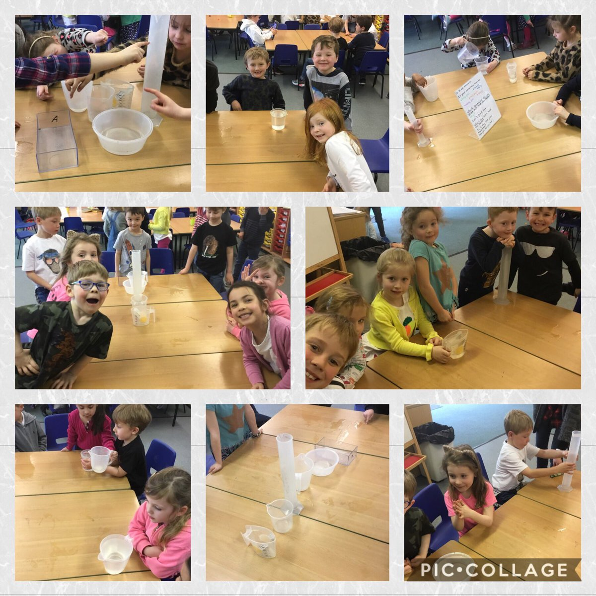 test Twitter Media - We enjoyed investigating capacity this morning. We predicted which container would hold the most, then we investigated to find out. Some of us were surprised as we thought the tallest container would hold the most! #gorseymaths https://t.co/glqHdUClxU
