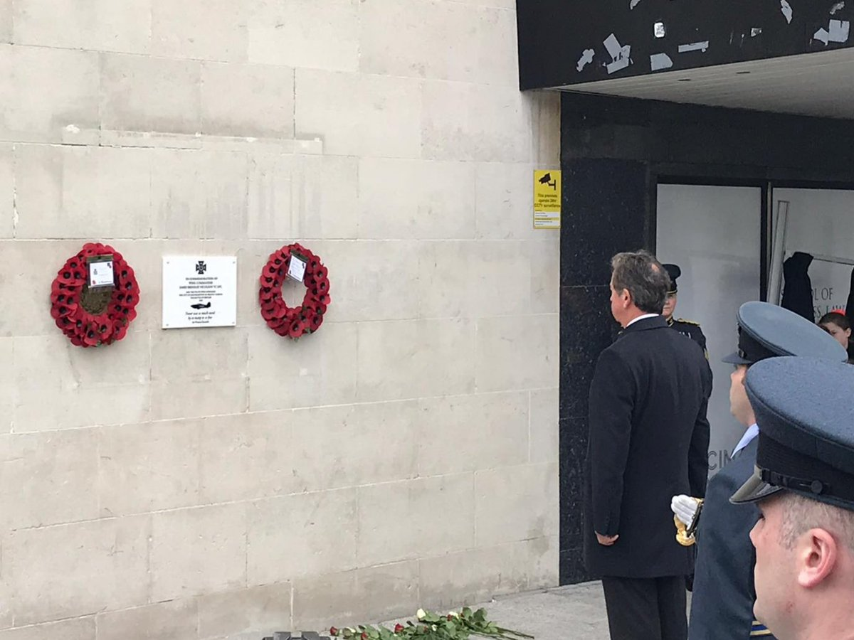 A commemorative plaque was unveiled in Southampton today during a ceremony to honour Wg Cdr Nicholson VC, DFC, who commanded 27 Sqn during WW2. The only pilot in Fighter Command to be awarded a VC, he was just 23 when he took down an enemy plane, despite having already been shot.
