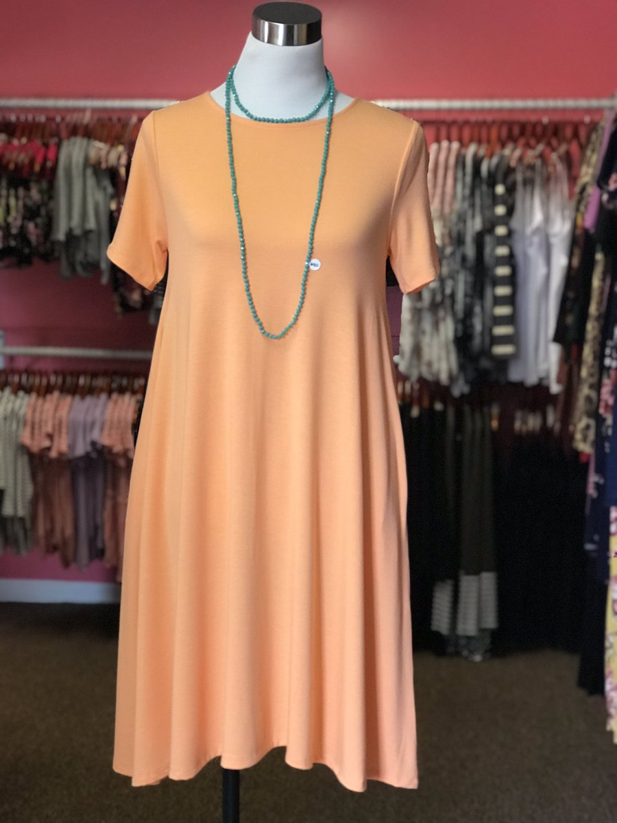 35362a984fa A cute new dress can really make a Friday sweet as a peach! Come shop with  us today from 3-6! Sweet as a peach dress  S-XL   24 Necklace   15pic.twitter.com  ...