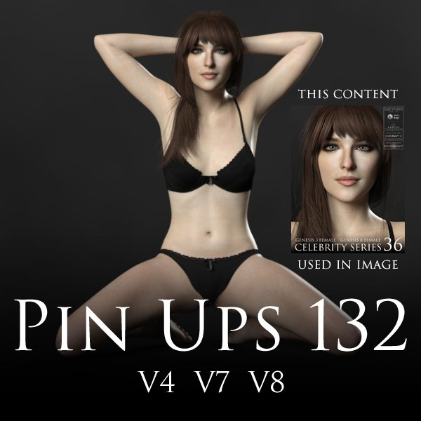 3Dcreation FREE Pin Ups 132 Poses for Victoria 4 (V4