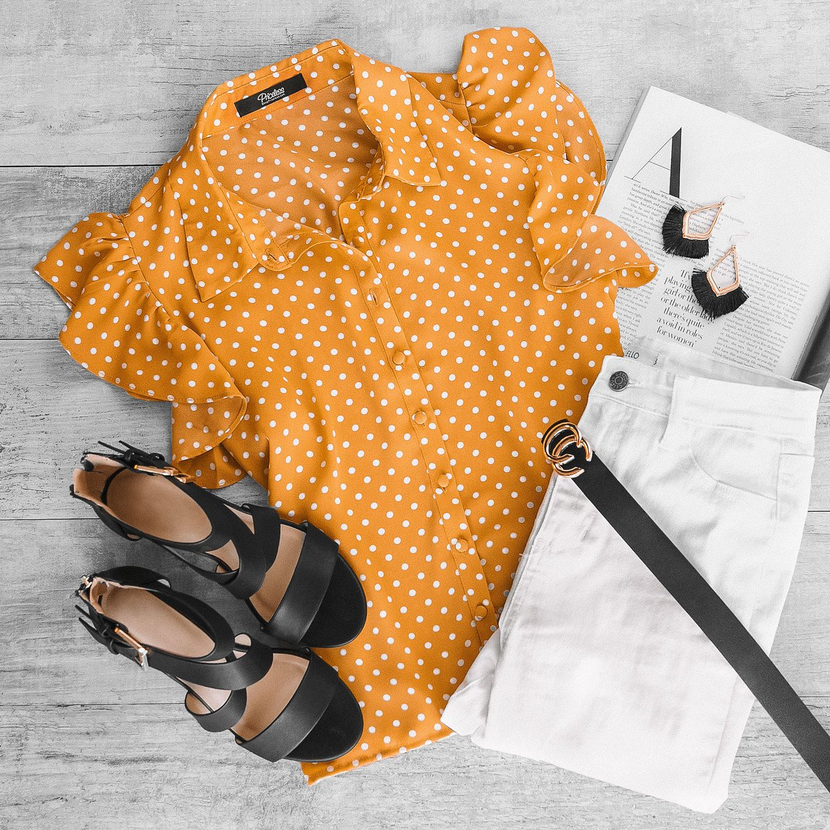 every girl needs a polkadot blouse  shop this classy #EasterOutfit below!   Top:  https:// bit.ly/2IeKvSH     Bottom:  https:// bit.ly/2tqIeeh     Belt:  https:// bit.ly/2FhbdIp     Shoes:  https:// bit.ly/2IabMFX    <br>http://pic.twitter.com/RVVWw0GoMc