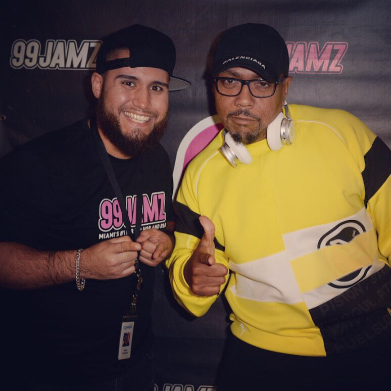 Salute to the legend @Timbaland for pullin' up @99JAMZ #JAMZLive #WEDR