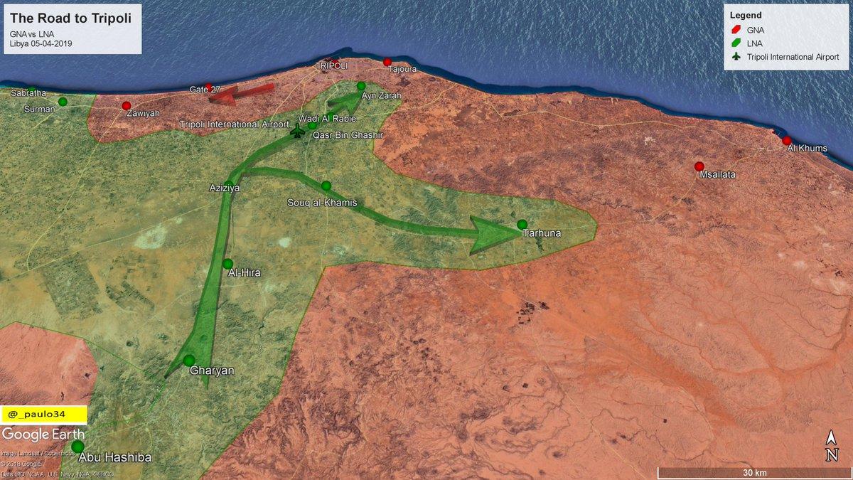 Сводки из Ливии. Наступление на Триполи. 06.04.2019