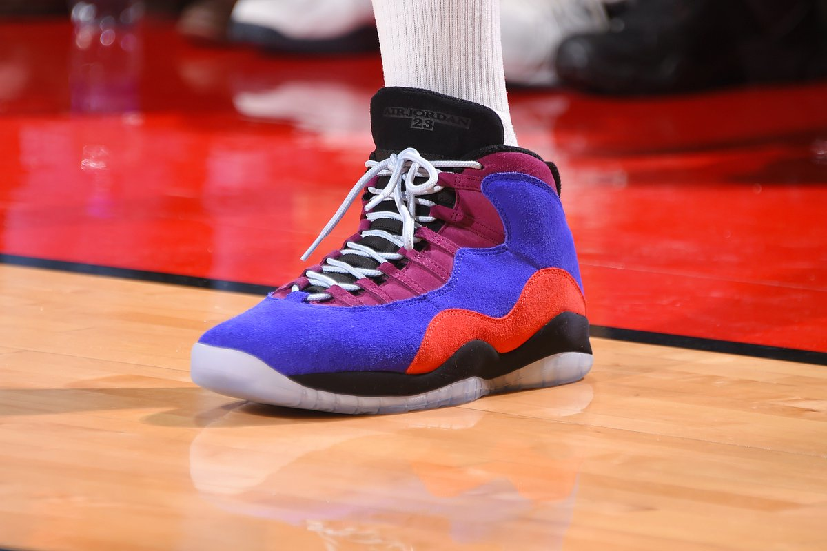 7c351ef1886e PJ Tucker wearing the  AlealiMay x Air Jordan 10 against New York ...