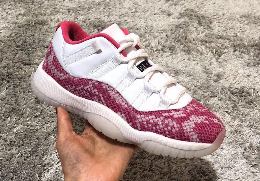 1c2240e2bdbf Release Date  Women s Air Jordan 11 Low Snakeskin  Pink  - May 4