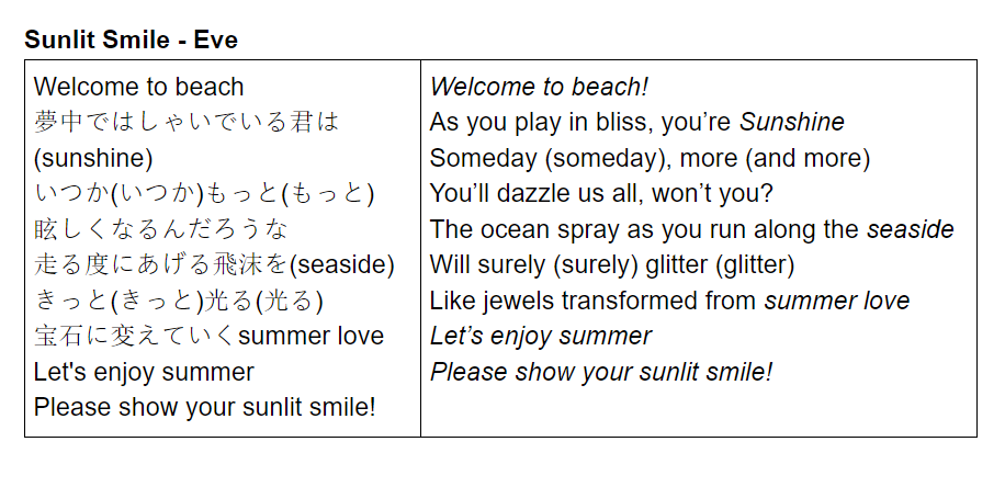 Jay Eve Day In My Heart On Twitter I Had A Go At Translating