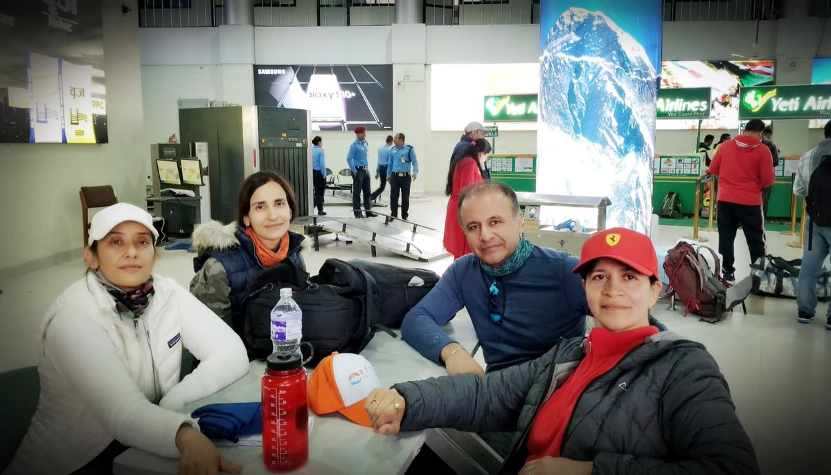 Togetherness is fun.. even if it means waiting indefinitely in the airport..our adventures of a life time started here  #ebc #guardiansOfHimalaya #adventureoflife <br>http://pic.twitter.com/TPKD72ReDT