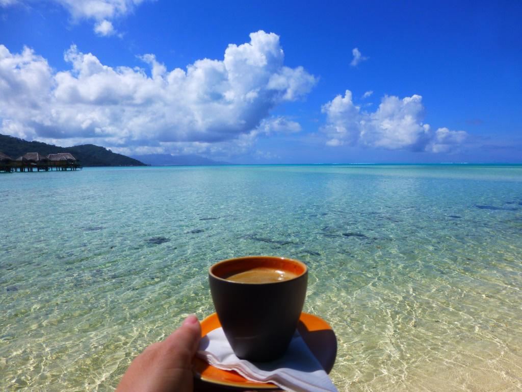 Открытка с добрым утром на пляже