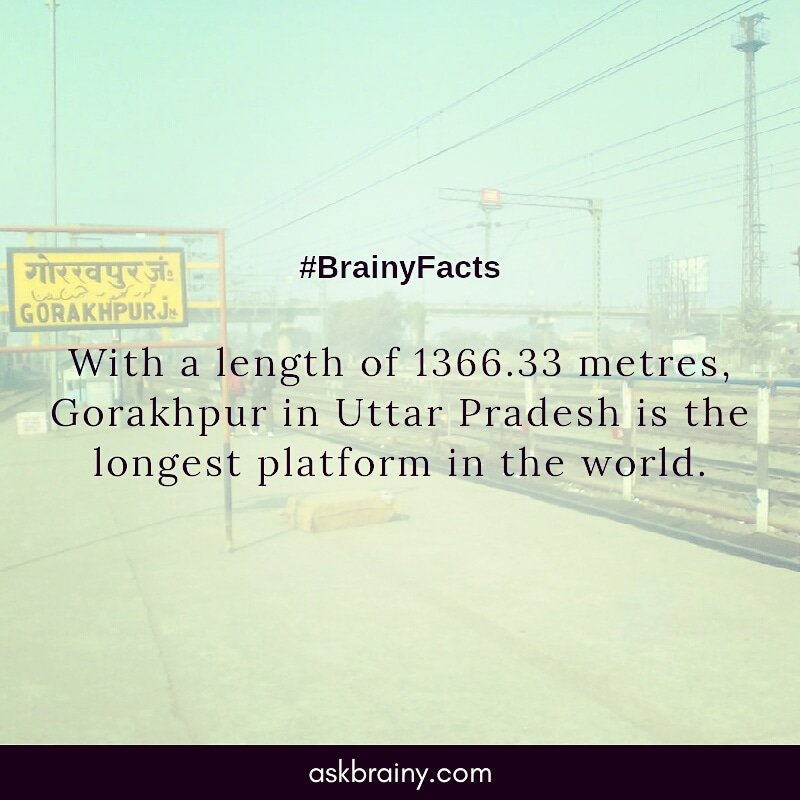 #factoftheday #facts #railway #transportation #travel #station #askbrainy #world #gorakhpur #india #asia #marketing #entrepreneur