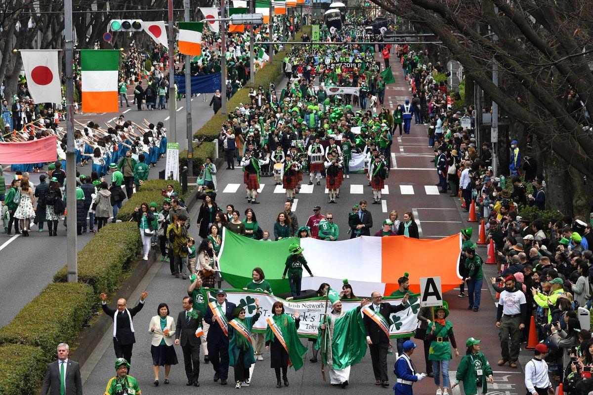 "Official 2019 figures are in! Top 2 St Patrick's Day events in Tokyo drew record crowd: 183,000! Omotesando Dori Parade &amp;  ""I Love Ireland"" Festival in Yoyogi Park. @IJCC_Tokyo @injwebsite @josephamadigan @GlobalIrish #StPatricksDay @tokyoweekender @TimeOutTokyo @MetropolisTokyo<br>http://pic.twitter.com/UK6vgXaPCR"