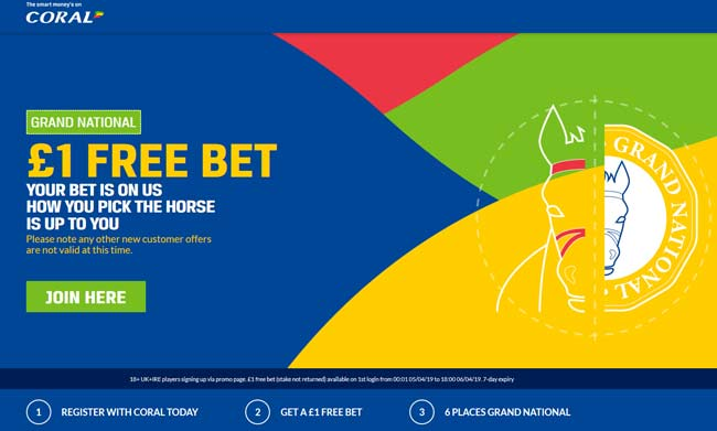 Coral Grand National No Deposit Bonus