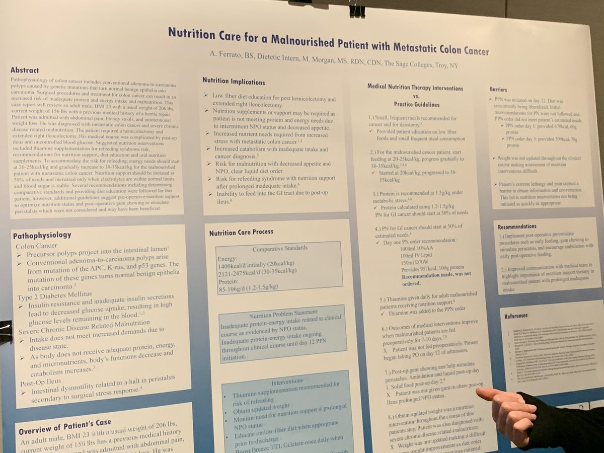 So inspired by these student posters @eatrightny. The future of dietetics is in good hands.