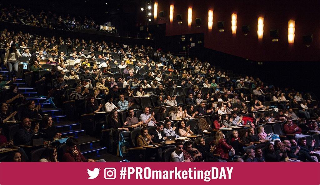 Vista parcial del auditorio del @TeatroGoya con los asistentes de #PROmarketingDAY
