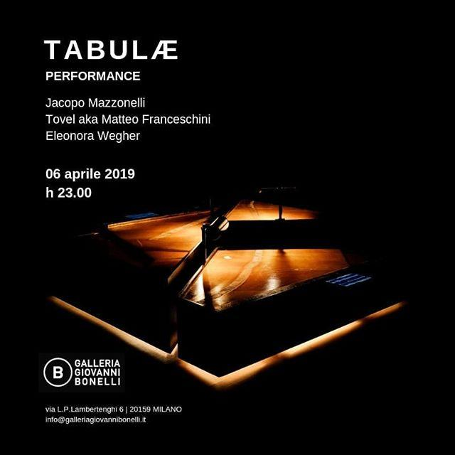 Don't miss the #performance #Tabuae by @jacopomazzonelli and @matfranceschini this evening at 11pm at @galleriagiovannibonelli in #Milan, in the occasion of @miartmilano and the finissage of #SoloShow #DifferenceAndRepetition, curated by #DanieleCapra.  … https://t.co/x7e85HxBLq