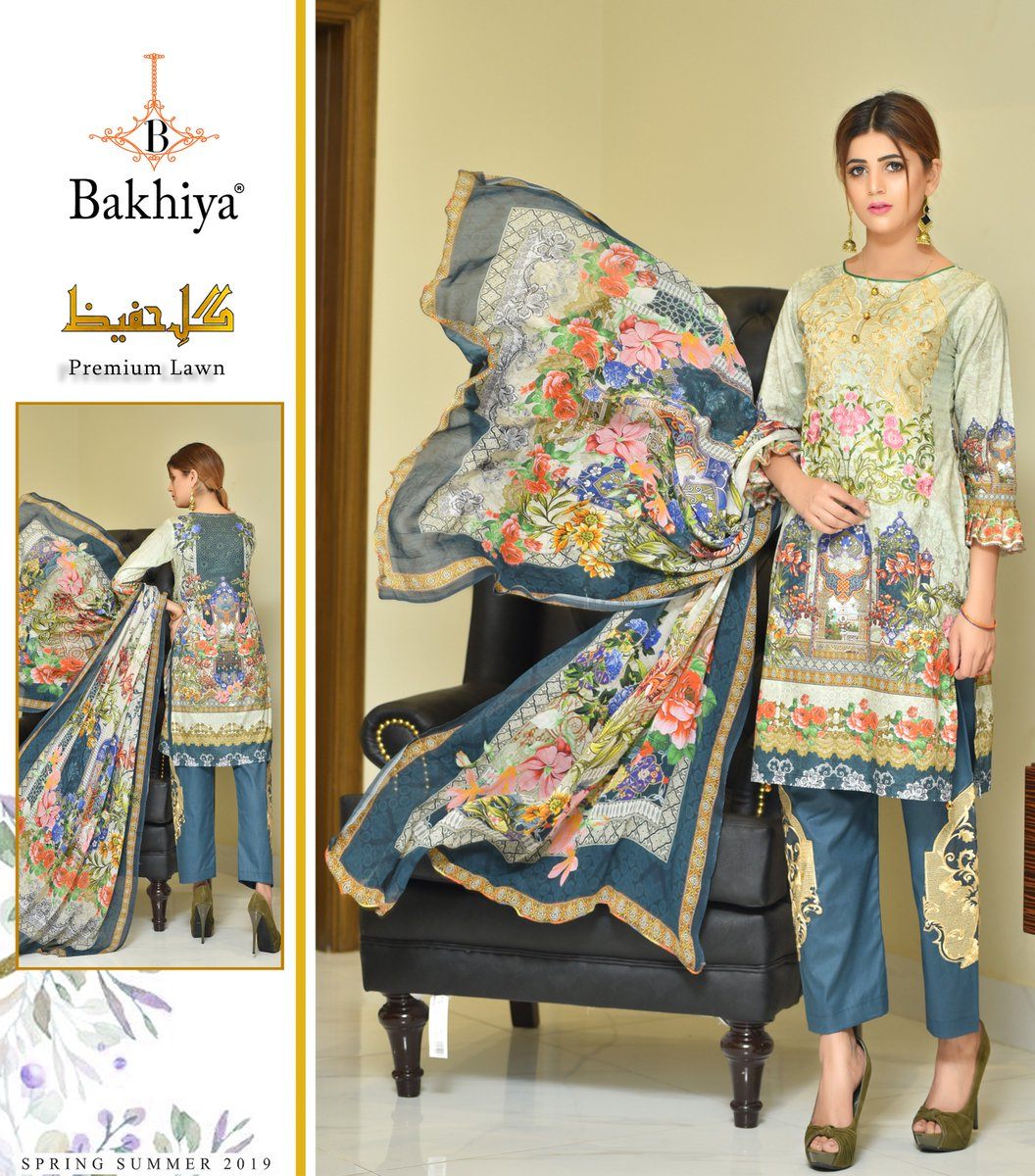 8e8f3b910c Experience the best of luxury designs with our new Digital Print  Embroidered Collection ! #Bakhiya