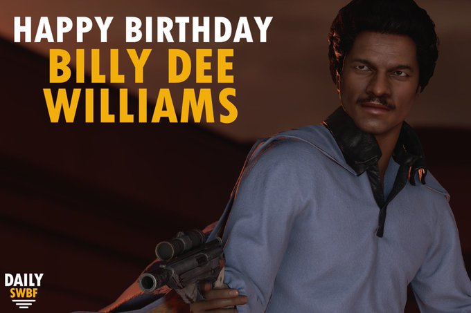 Happy Birthday to smoothest gambler in the galaxy, Billy Dee Williams!