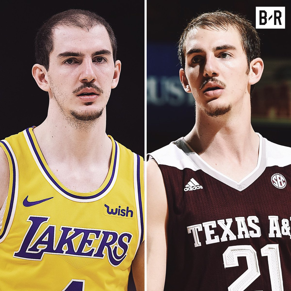 Alex Caruso dropped a career-high 32 last night. Where'd he come from?  - 8 PPG at Texas A&M - Scored over 25 once - Undrafted - Waived by OKC - Summer League star - Tore up the G-League - First Lakers two-way contract