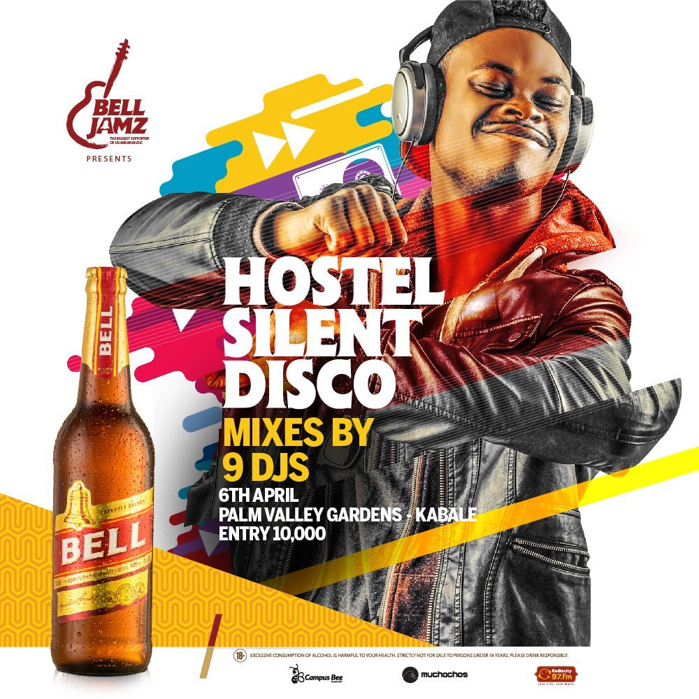 #HostelSilentDisco by #BellJamz  @Bell_Lager  sweeps off the land of Potatoes & sorghum-Kabale. The only talk & plot for the weekend - today is the #SilentDisco #PalmValleyGardens in mwanjari featuring top Ugandan DJs with Kabale's finest DJs inclusive. You don't wanna miss