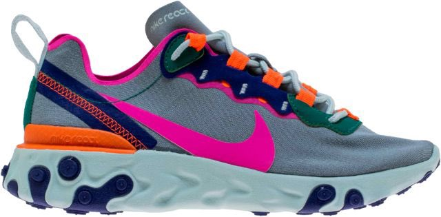 online store 07396 f0296 nike womens react element 55 in wolf grey fuchsia and hyper crimson  available online