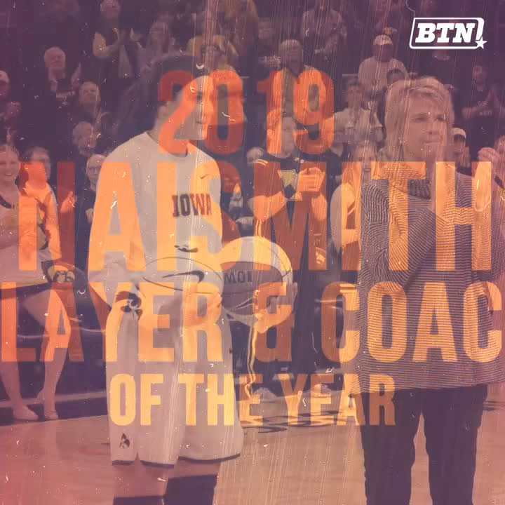 Name a better duo, we'll wait.   Congrats to @IowaWBB's @GustafsonMeg10 & @LisaBluder for winning the 2019 @NaismithTrophy and Naismith Coach of the Year awards. 🏆🏀