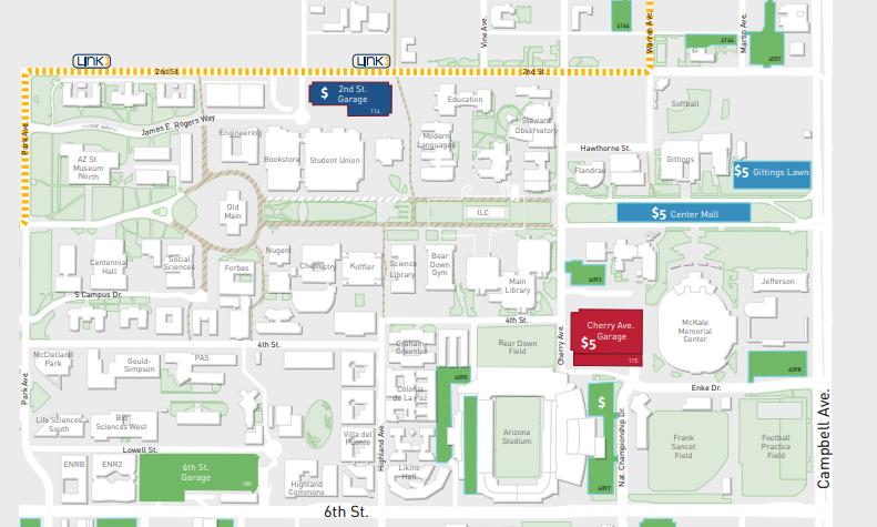University Of Arizona Keating Building Map.Parking Services Uapts Twitter
