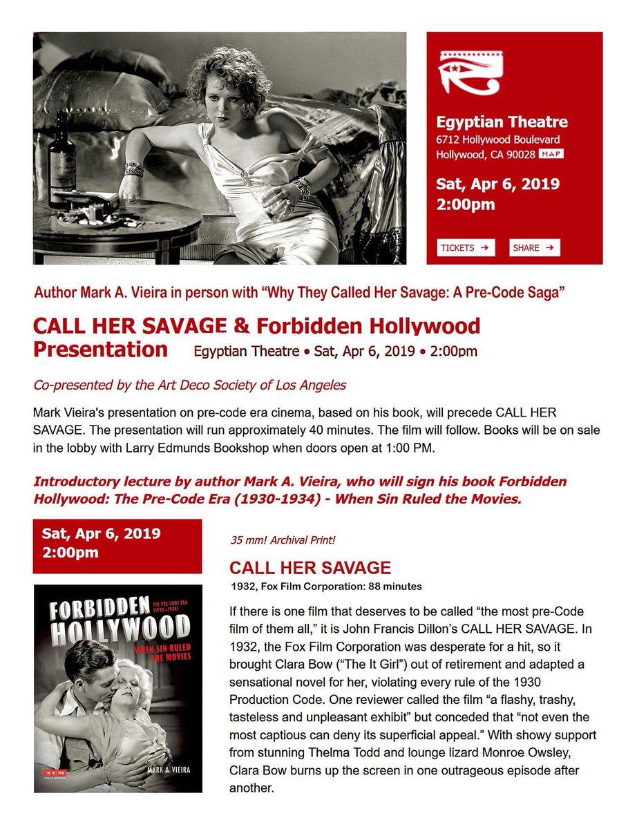 Call her savage Clara Bow 1932 vintage movie poster