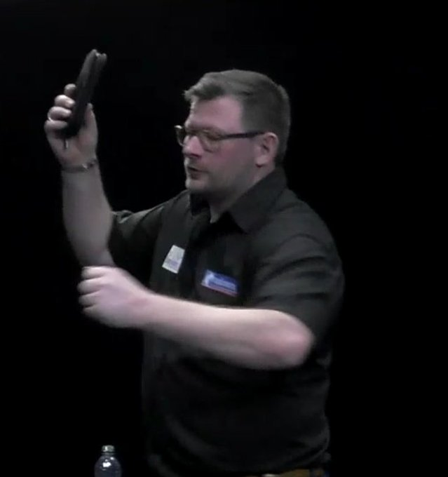 James Wade looks happy with his win in on his birthday. 8-2 vs Michael Smith.
