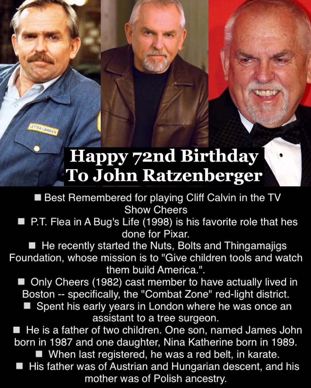 April 6: Happy 72nd Birthday to John Ratzenberger