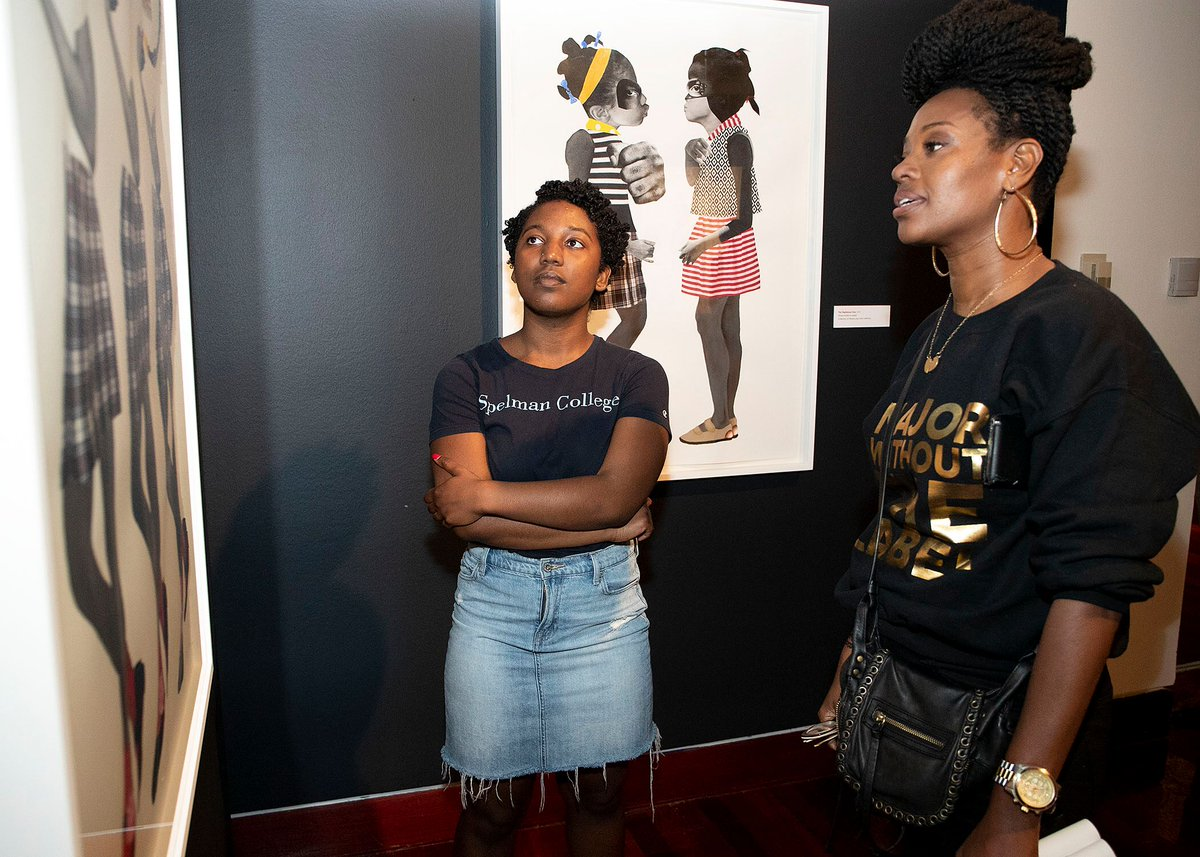 Discoveries are made when people slowly look at a work of art. By taking their time, visitors are able to experience exhibitions differently. Join @spelmanmuseum TODAY for #SlowArtDay for an eye-opening adventure in art! #SpelMuse #SlowArtDay #SlowArtDay2019 #FineArt #Art