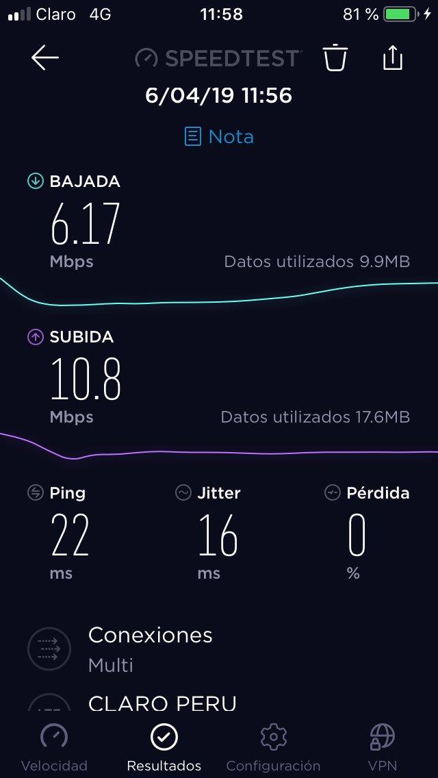 Quien tiene ese dato de velocidades de internet móvil 4G LTE