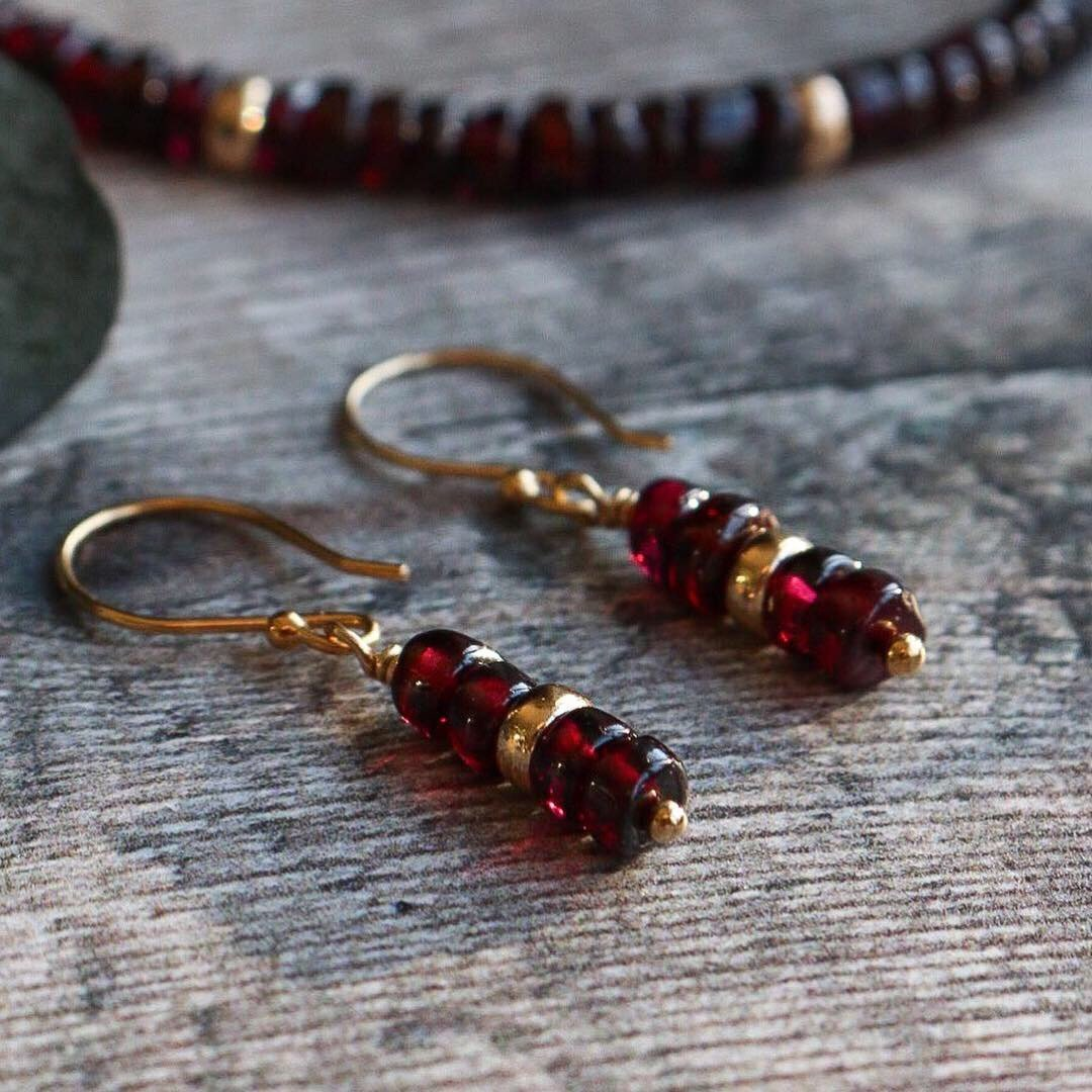 7801d8dc2eb Excited to share the latest addition to my  etsy shop  Garnet Earrings