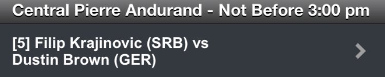 @DreddyTennis playing his final against Filip Krajinovic tomorrow NBF 3pm! #aufgehts