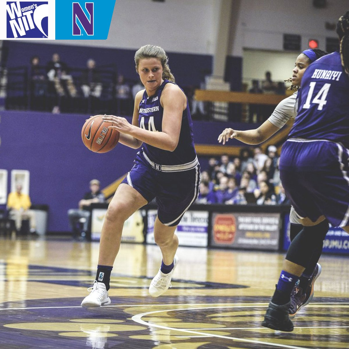 All five starters for the @nuwbball scored in double-digits during Wednesday's semifinal matchup.  #B1GWBBall x #WNIT
