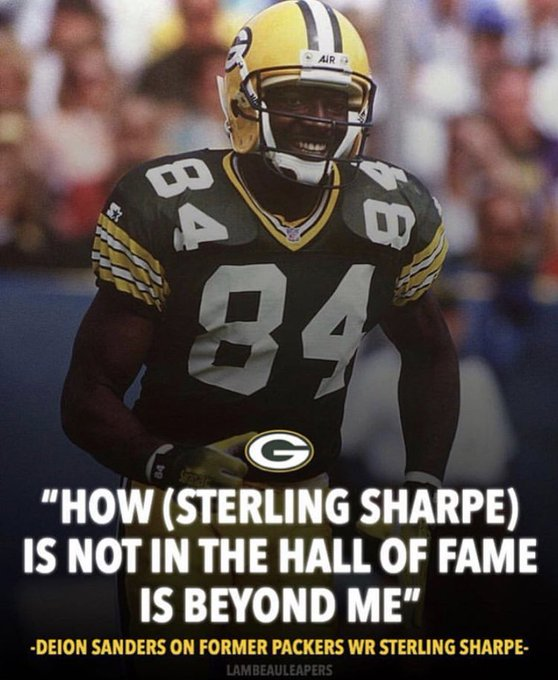 Happy birthday to one of the great receivers of all time, Sterling Sharpe   said it best.