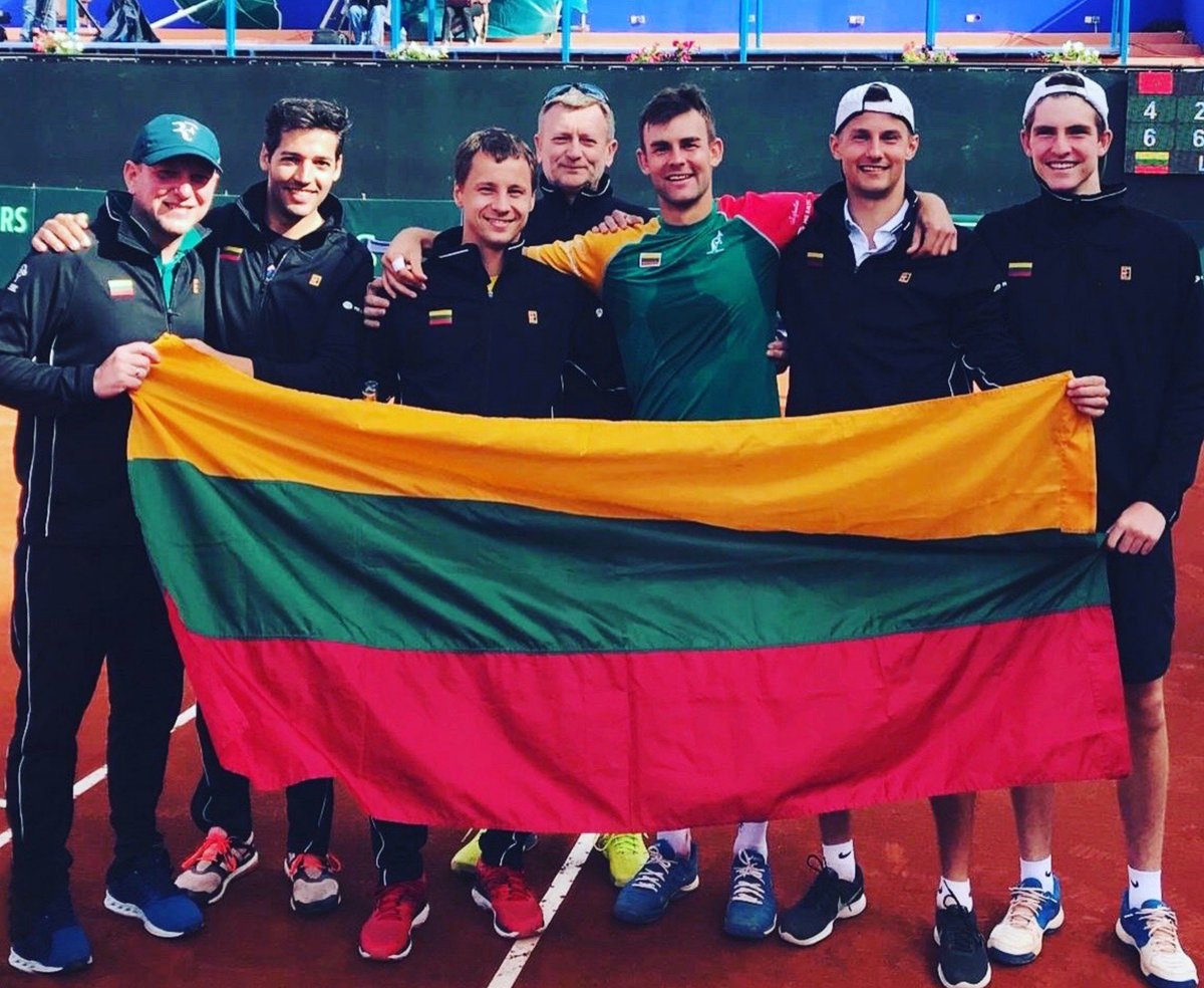 🇱🇹 👊🏼👊🏼👊🏼👏👏👏 😍😍😍😍🇱🇹 🇱🇹 🇱🇹 Well done Team Lithuania! #DavisCup (📸@berankisr)