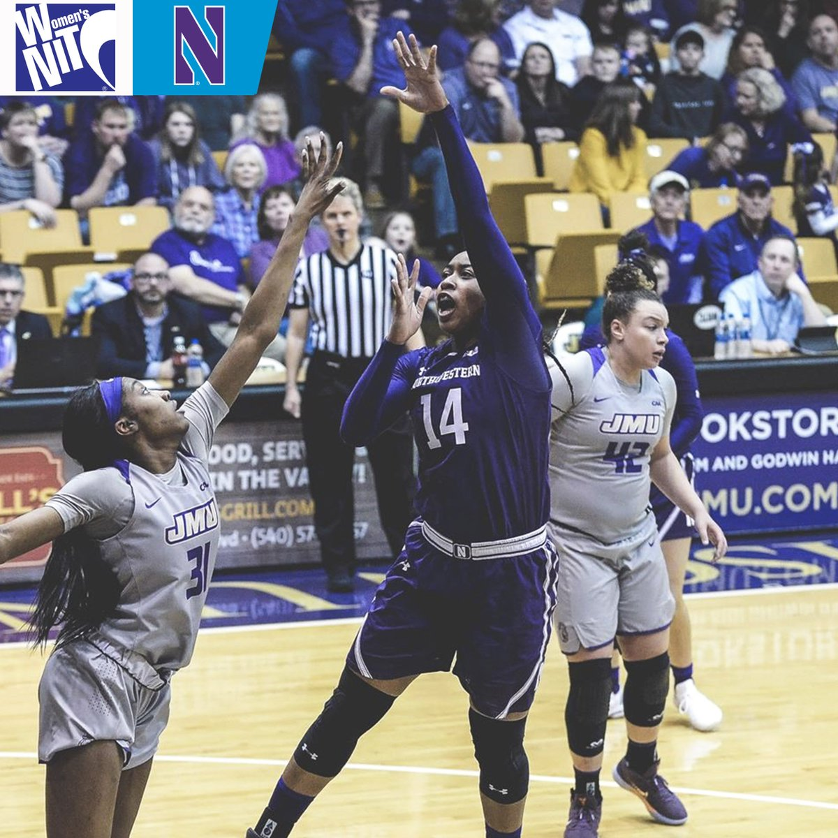 Senior Pallas Kunaiyi-Akpanah recorded her 19th double-double of the season with 11 points and 11 rebounds in Wednesday's victory, setting the @nuwbball single-season record.  #B1GWBBall x #WNIT