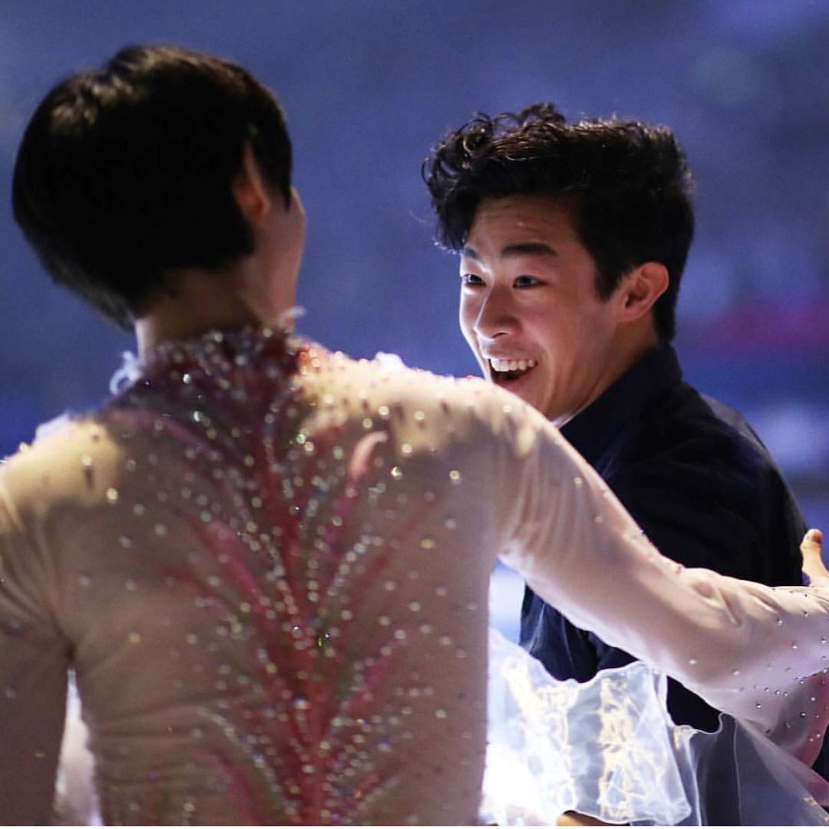 I keep seeing this photo on my feed. Brings me back to the thrill that was Yuzuru Hanyu-Nathan Chen back-to-back at #WorldFigure - and the mutual respect from their press conferences. <br>http://pic.twitter.com/edyNffJnBQ