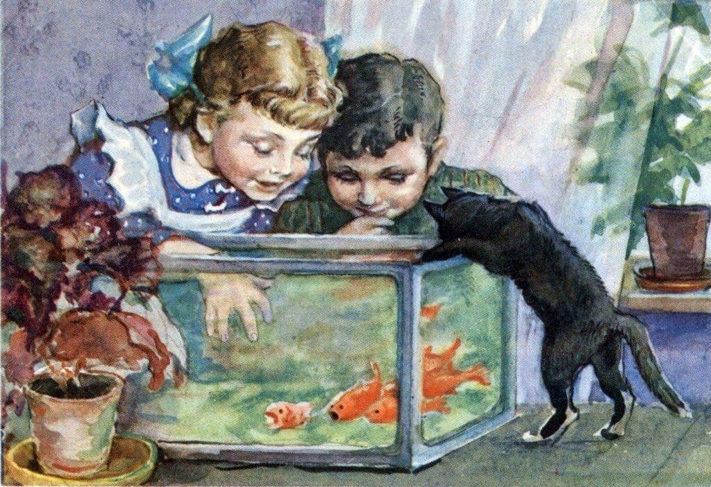 Открытки с изображением детей советские