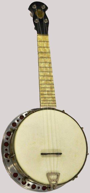 a j margolin perloid broadcaster banjolele