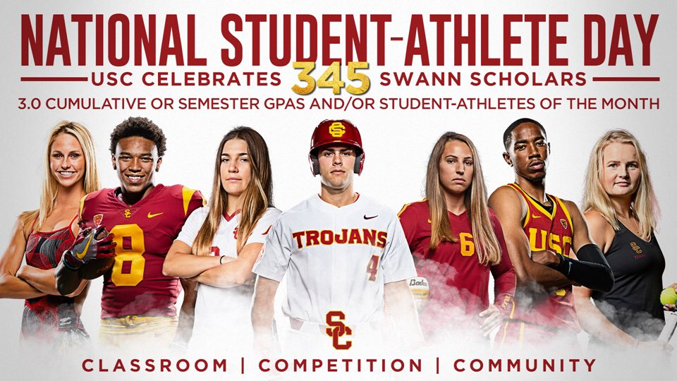 89e6896f8df Happy National Student-Athlete Day to all of our Trojans