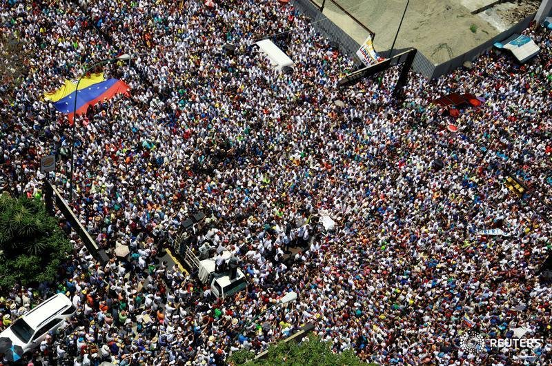 Maduro must listen to the booming voices of the Venezuelan people, accept Interim President Guaido's offer of amnesty, and stand out of the way of a democratic transition in Venezuela. The world is watching.